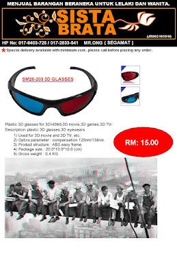 3D glasses RM 15