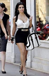 kim kardashian moschino belt