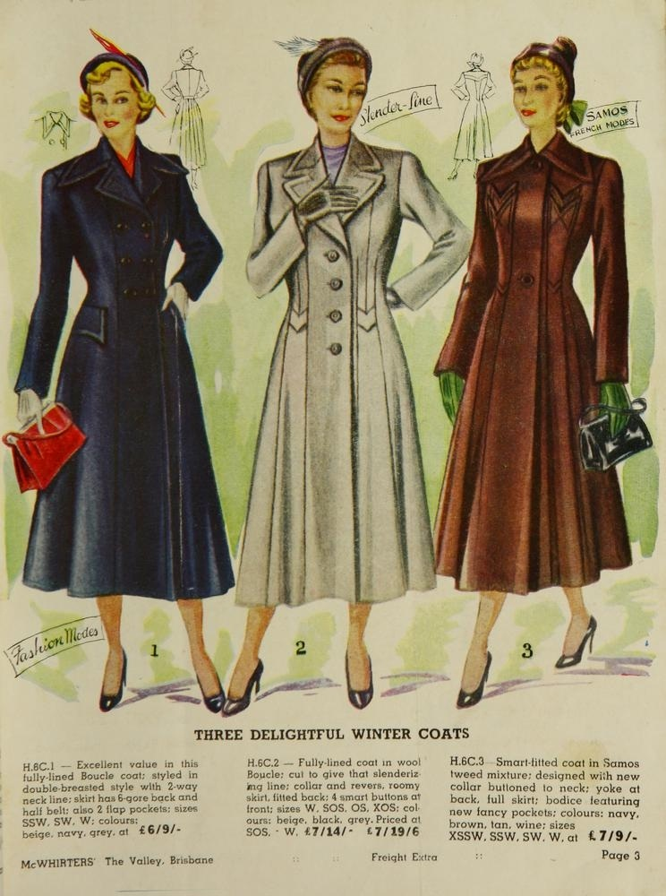 The Mcwhirters Project Brisbane Winter Overcoats Gloves Slippers Mcwhirters Catalogue 1950