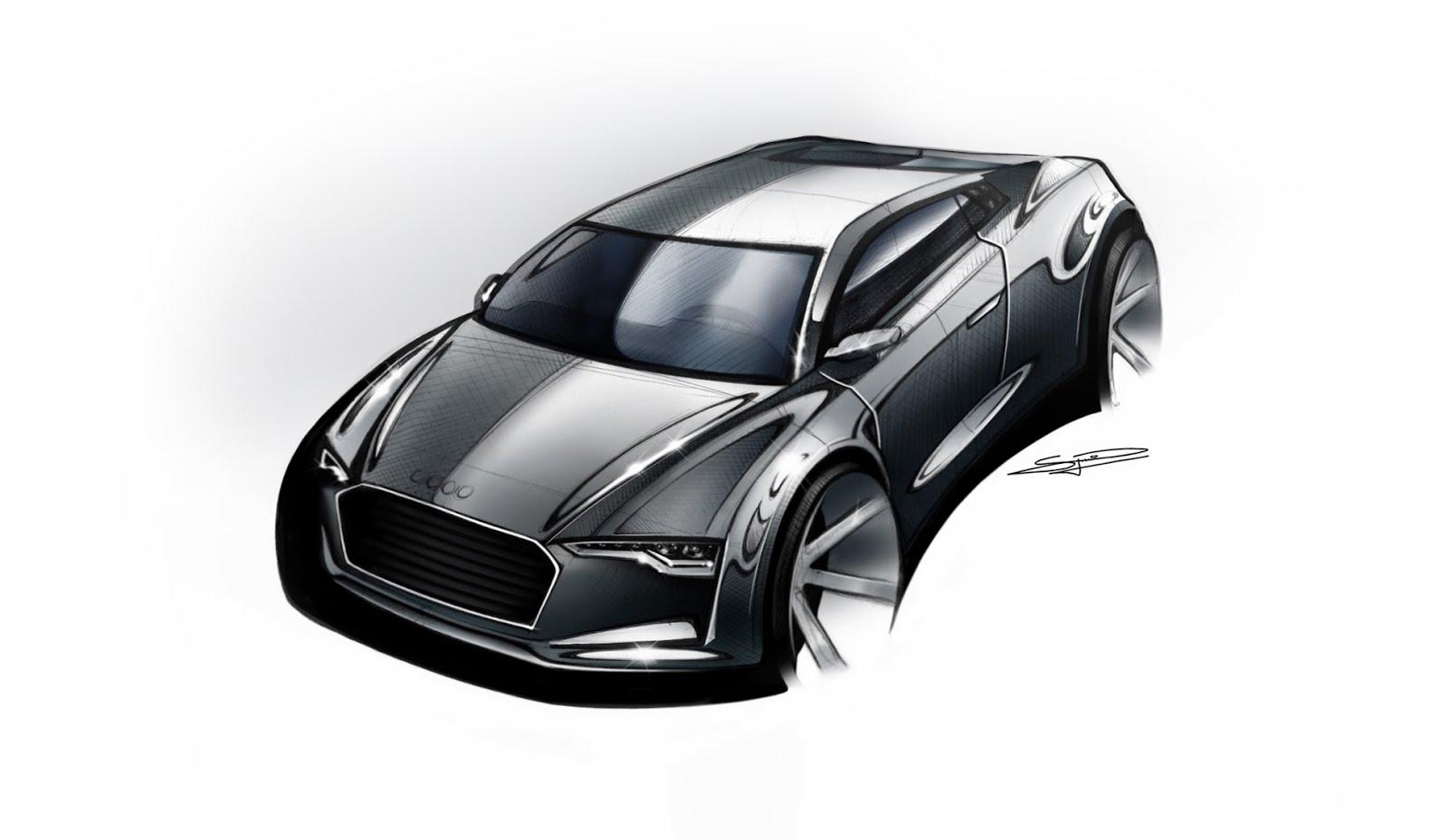 Audi Sketch Rendering