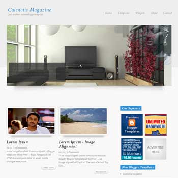 Calenotis Magazine blog template. template image slider blog. magazine blogger template style. wordpress them to blogger template