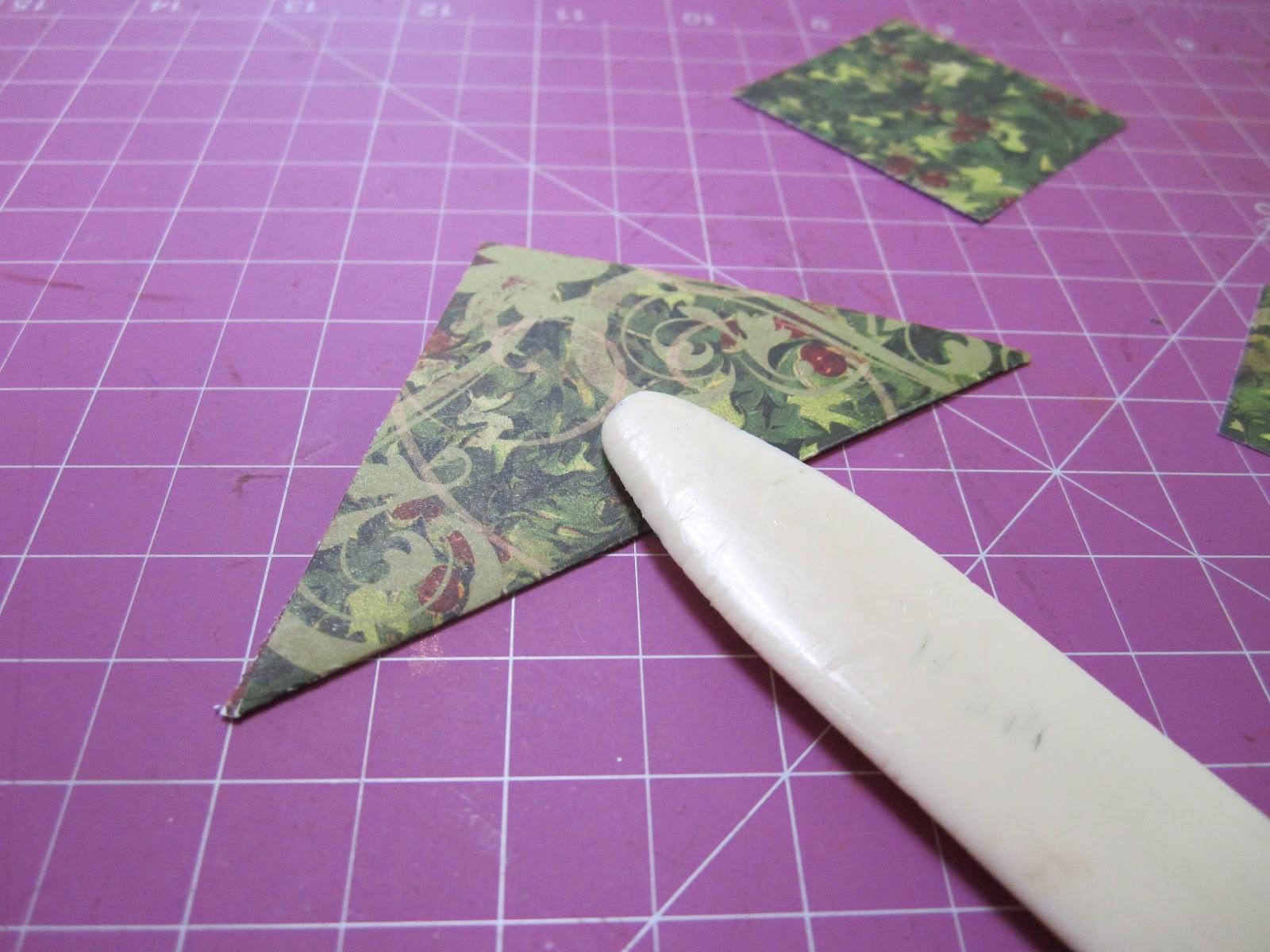 Scrapbook ta vie carte sapin origami - Comment faire un sapin en origami ...