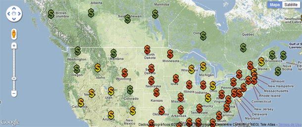 Site mapeia preço da maconha nos EUA