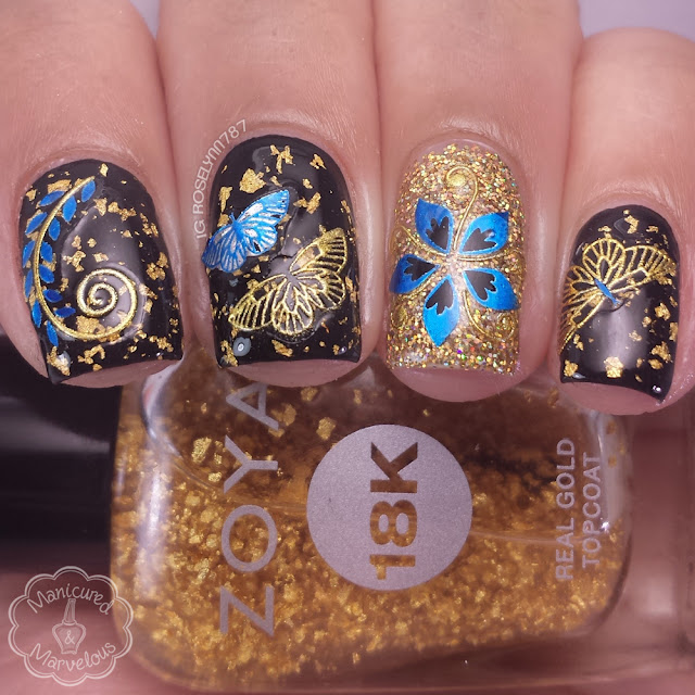 Born Pretty Store -  Rose Butterfly Nail Art Stickers