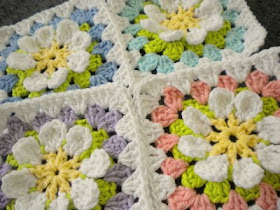 Flower Garden Granny Square Free Pattern