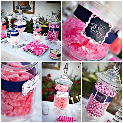 Sparkly Wedding Candy Buffet