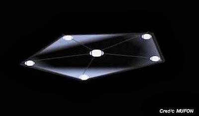 UFO Over Milano, Texas (Artist's Rendition)