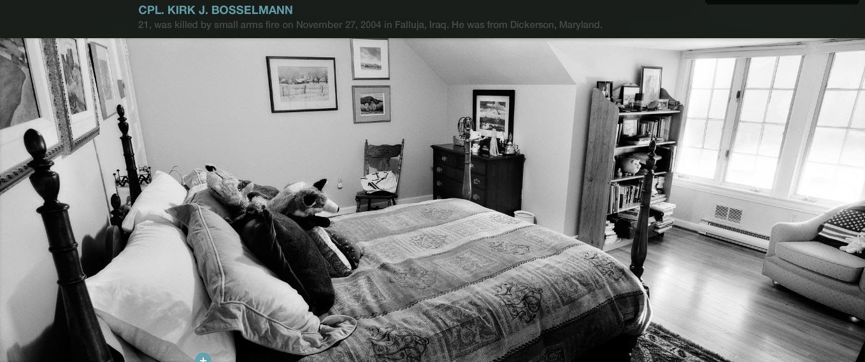 bedrooms of the fallen photographer honors and memorializes fallen