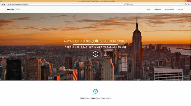 Korhan Çağla için yapılmış Kişisel Web Site Ana Sayfası