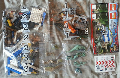 Raptor Rampage LEGO set 75917 box contents