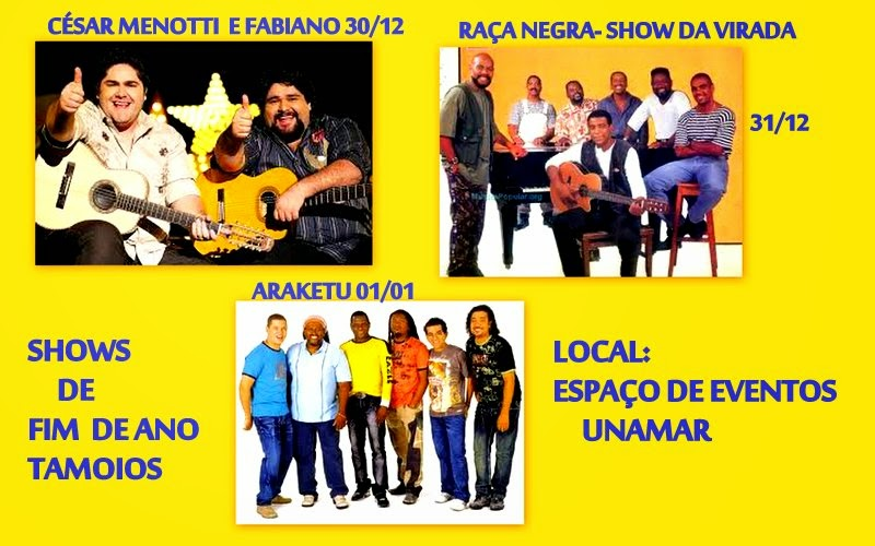 SHOWS DE FIM DE ANO TAMOIOS