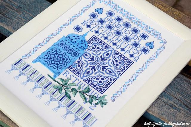 Impressions marocaines, Véronique Enginger, V.Enginger, De fil en aiguille, DFEA, вышивка крестом