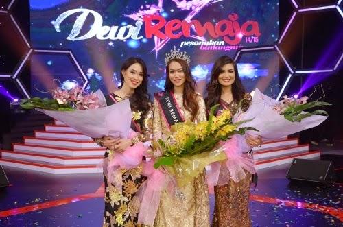 Raysha Rizrose Pemenang Dewi Remaja 2014 - 2015, juara Dewi Remaja tahun 2015, hadiah pemenang Dewi Remaja 2015, Deeba, Balqish, Mawar, Syamim dan Raysha Rizrose finalis akhir Dewi Remaja 2014/2015, gambar pemenang Dewi Remaja 2015