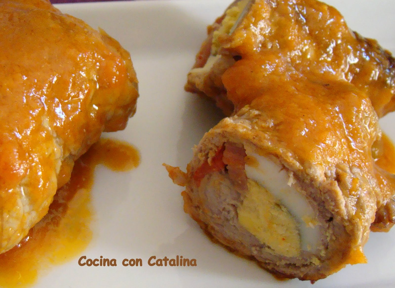 COCINA CON CATALINA Filetes de TeRneRa Rellenos en Salsa