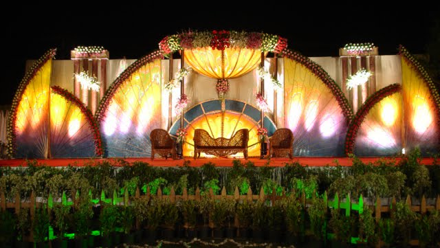 Indian Garden and Reception stage A wedding day is one of the most special