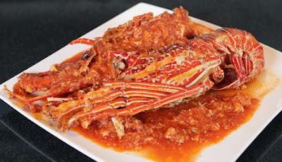 udang lobster bumbu asam manis pedas