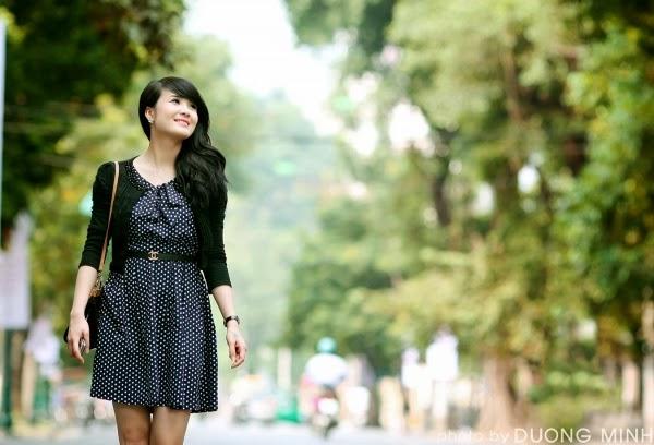 Hotgirl Khánh Chi xinh tươi