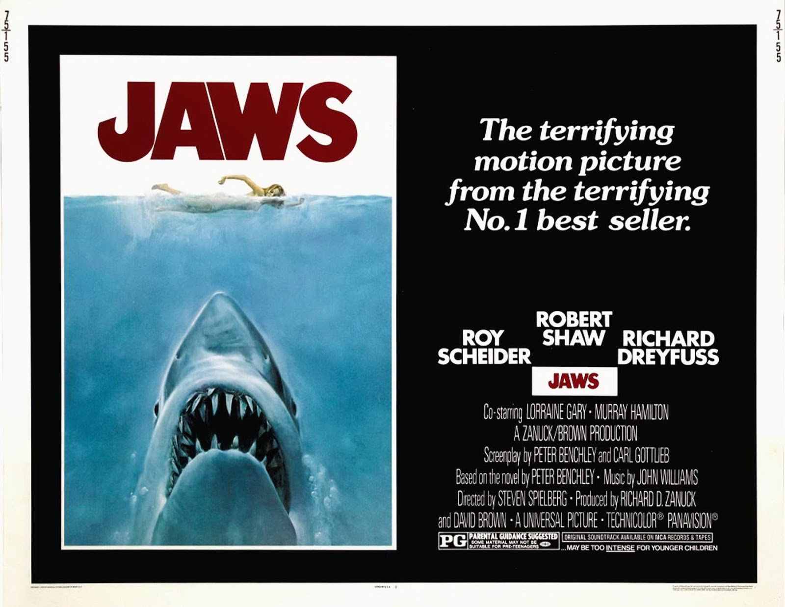 Jaws movie poster censored