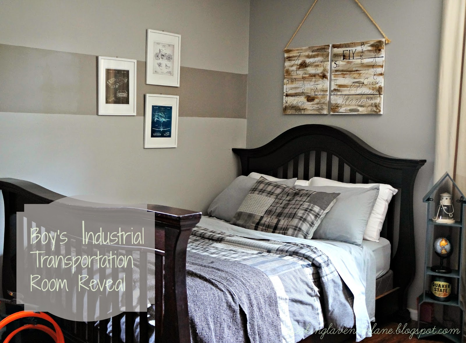 Industrial Style Boys Room