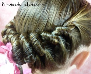 cute spiral braid hairstyle