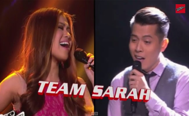Team Sarah;Monique Lualhati Vs Jason Dy of The Voice Of the Philippines Season 2 Semi Finals February 21, 2015