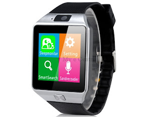 Smart Watch Phone with Sleeping Monitoring, Anti Lost, Remote Camera and SIM Card Slot (Black)