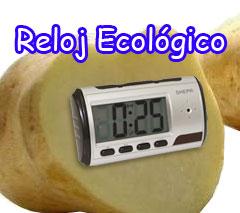 reloj ecológico