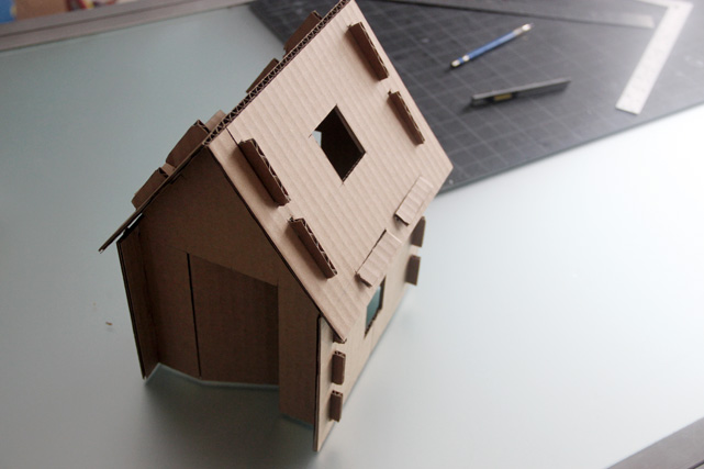 Project little smith thoughts on a cardboard house for House models to build