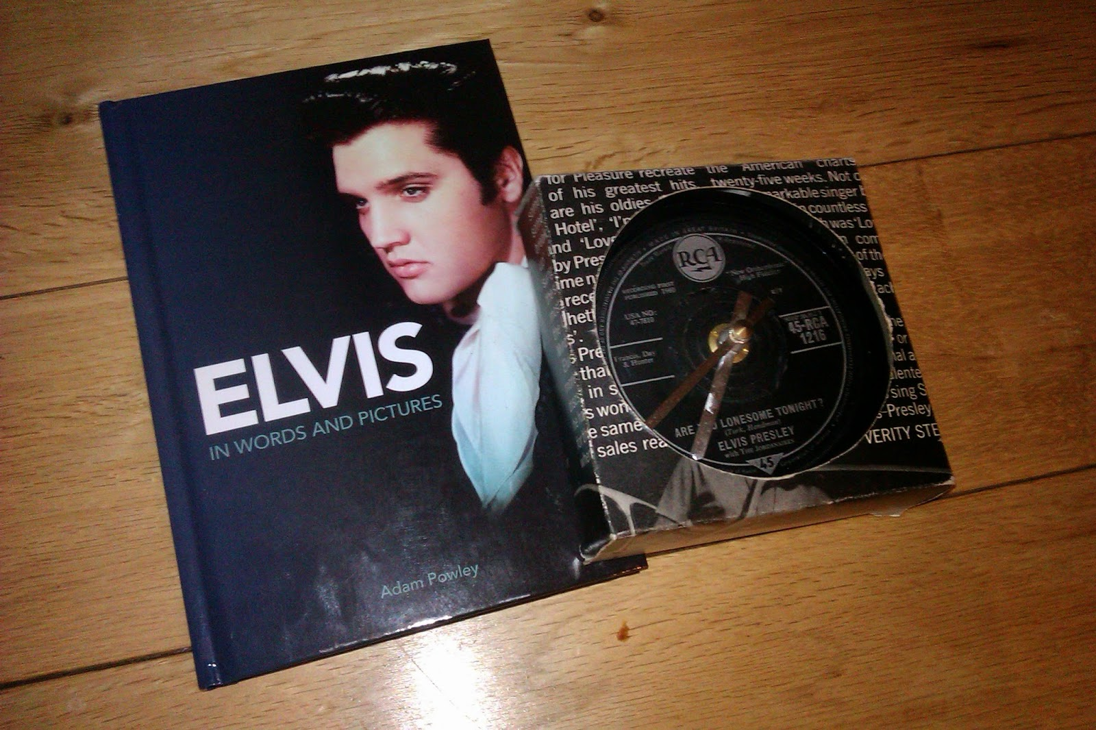 Elvis book and clock