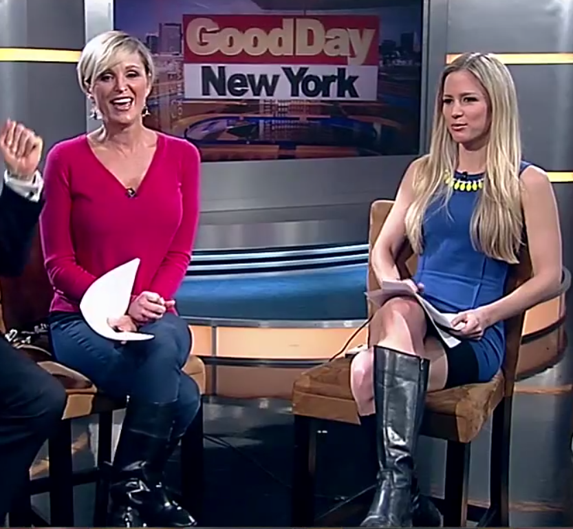 the appreciation of booted news women blog   juliet huddy and anna gilligan face off in a good