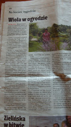 ogród gościł naszą lokalną gazetke