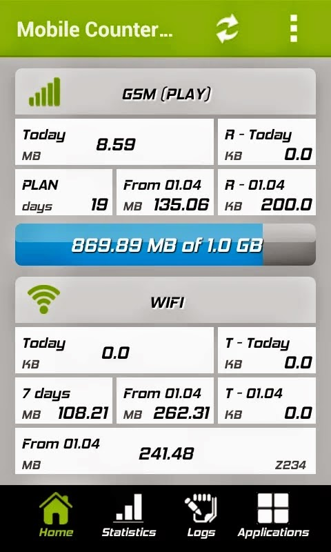 Mobile Counter Pro - 3G, WIFI v3.9