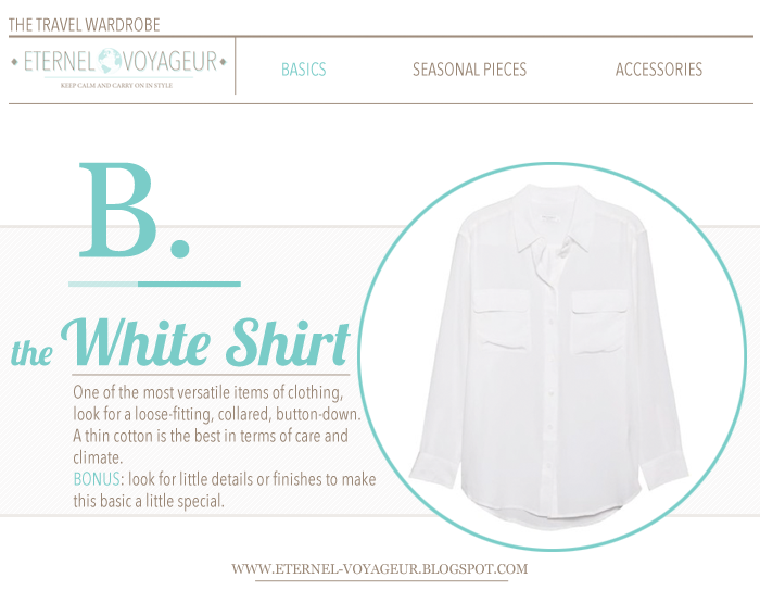 white shirt travel basics