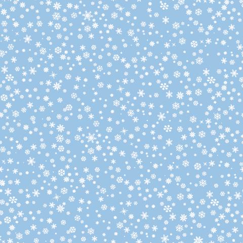copos de nieve en azul celeste