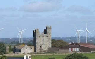 Wind turbines at Richfield Windfarm, County Wexford