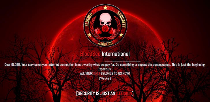 Globe Website 'Breached' By Hacktivist Group