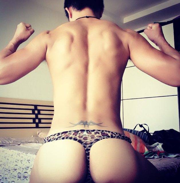Asian gay thong