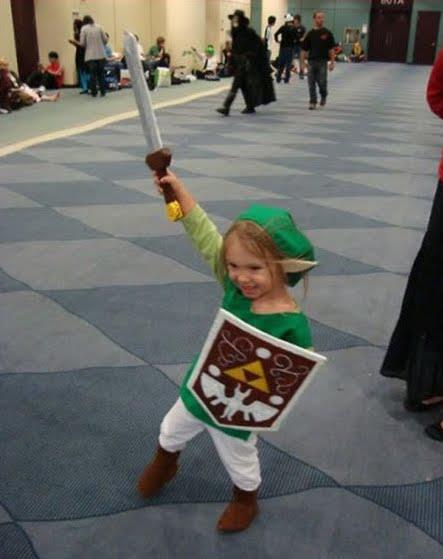 a little kid cute as link of zelda gaming series