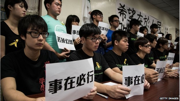 Revolusi Ilmiah - Mahasiswa pro demokrasi Hongkong