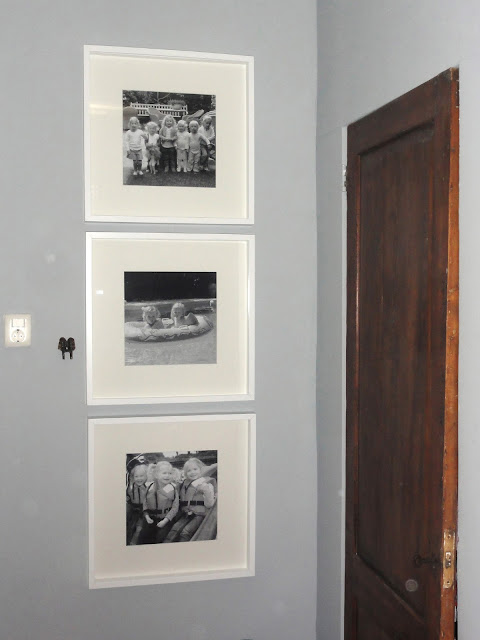 Photo wall in childrens bedroom