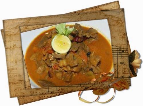 Tumis-tumis Ramadan Chef Sabri, Nasi Kacang Dal, Kambing Masak Madras, Salad Tomato dan Timun