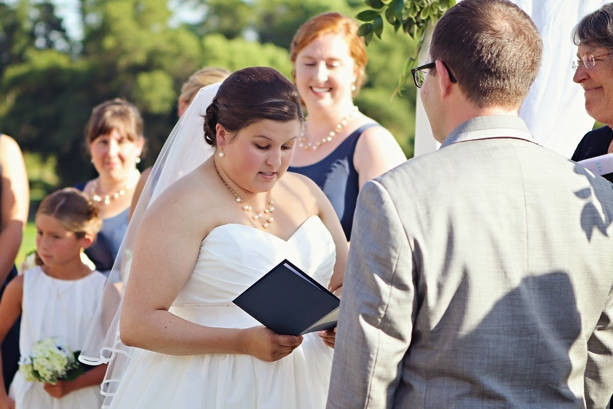 Molly's personal vows are wonderful - Patricia Stimac, Seattle Wedding Officiant