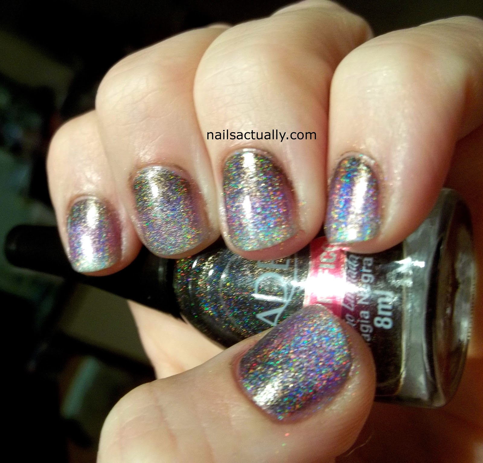 Nails Actually: Jade Holographic Gradient Nails
