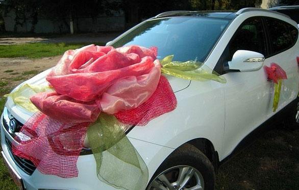 Как сделать украшения на свадебную машину