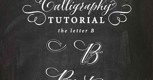 Antiquaria Calligraphy Tutorial The Capital Letter B