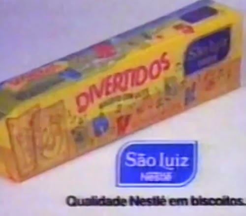 Campanha dos biscoitos Divertidos da Nestlé nos anos 90.