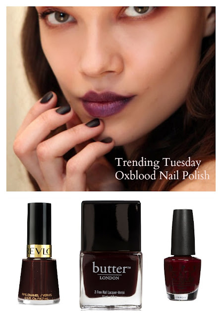 50ish Life: Trending Tuesday - Oxblood Nails
