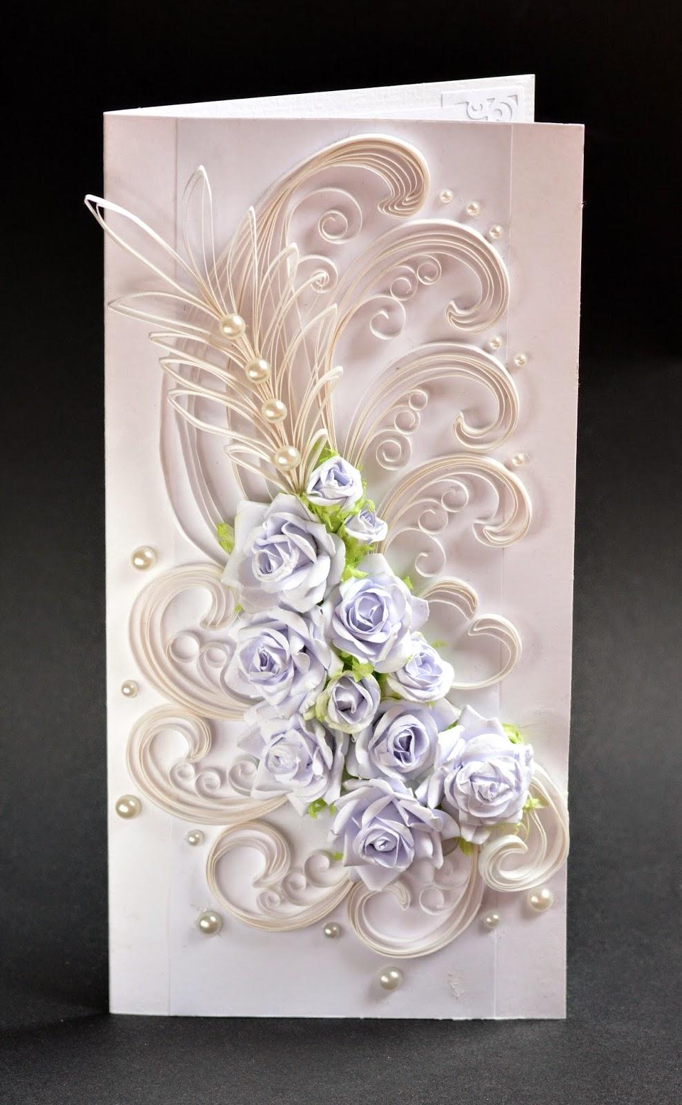 Квиллинг открытки к свадьбе 24