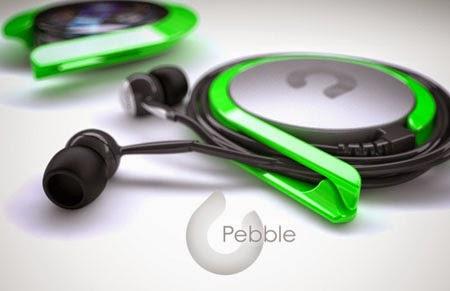 Pebble mp3 player concept
