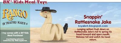 Burger King Rango Toys 2011 - Snappin' Rattlesnake Jake